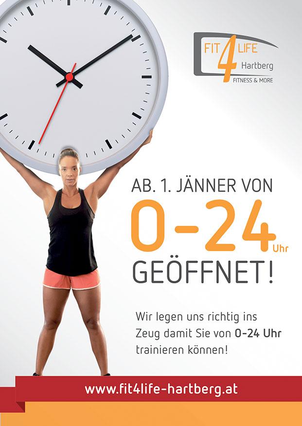 Neue Öffnungszeiten Fit4Life Hartberg