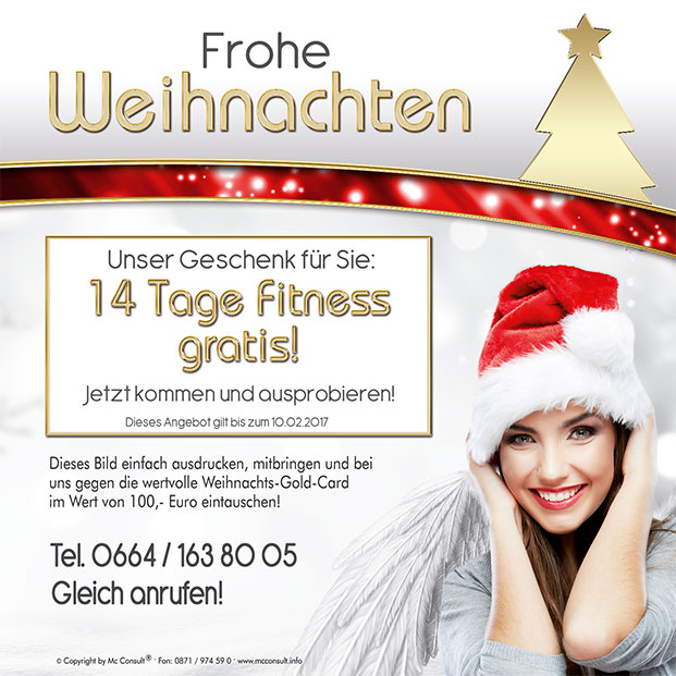 Weihnachtsaktion Fit 4 Life Hartberg